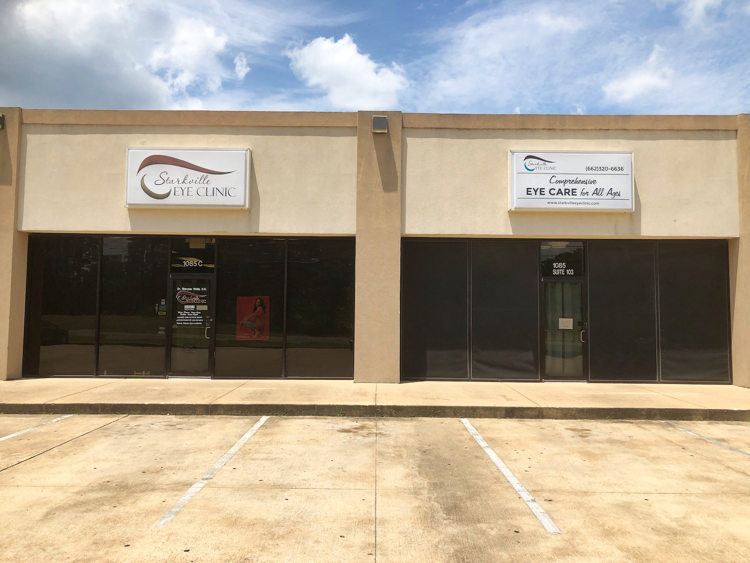 Front of Starkville Eye Clinic